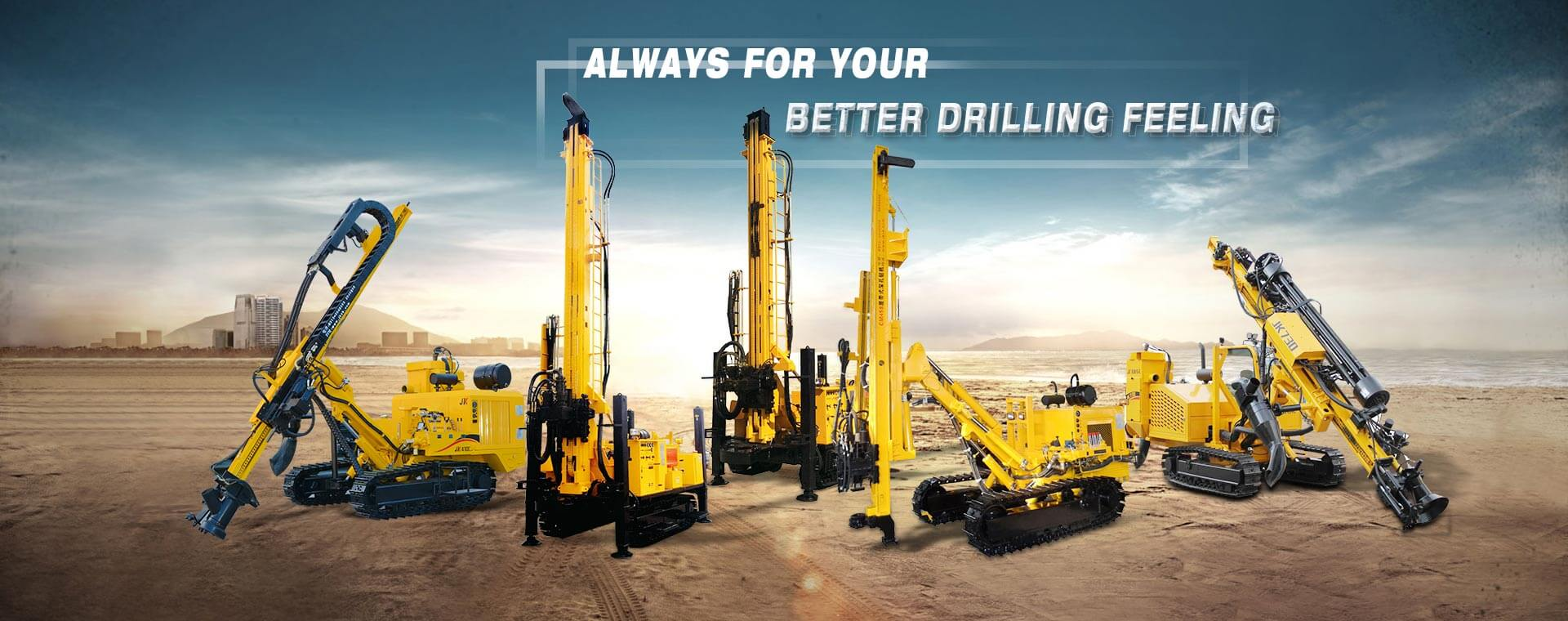 Crawler Mounted Hydraulic DTH Drilling Rig