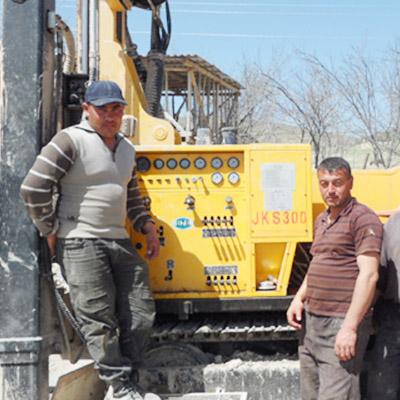 JKS300 is working on site in UZ (Uzbekistan)