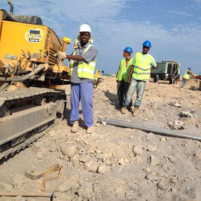 JK590 is working on site in Djibouti