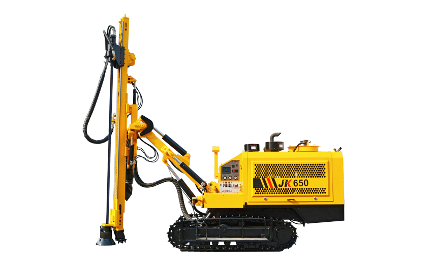 Our JK650 drill rig machine is woring